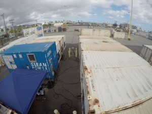 The generator is used to power up to 10 refrigerated containers at a time.