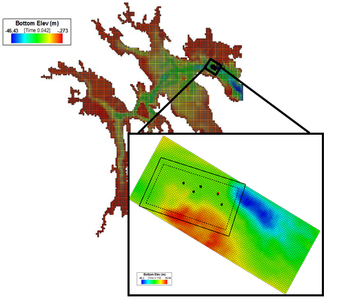 Sandia used SNL-EFDC to model the potential environmental impacts of a CEC array in Cobscook Bay.