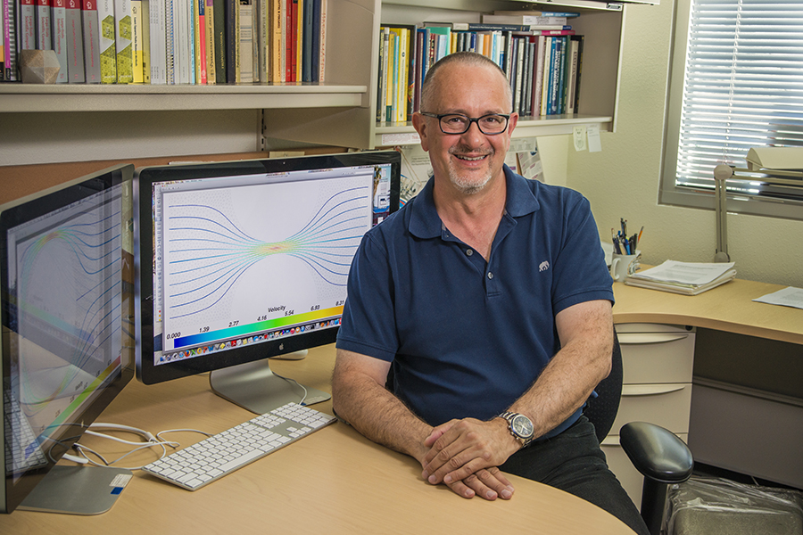 Pavel Bochev, a Sandia computational mathematician has won the Department of Energy's Ernest Orlando Lawrence Award for his work. (Photo by Randy Montoya)