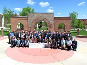 Group photo on SDSMT campus