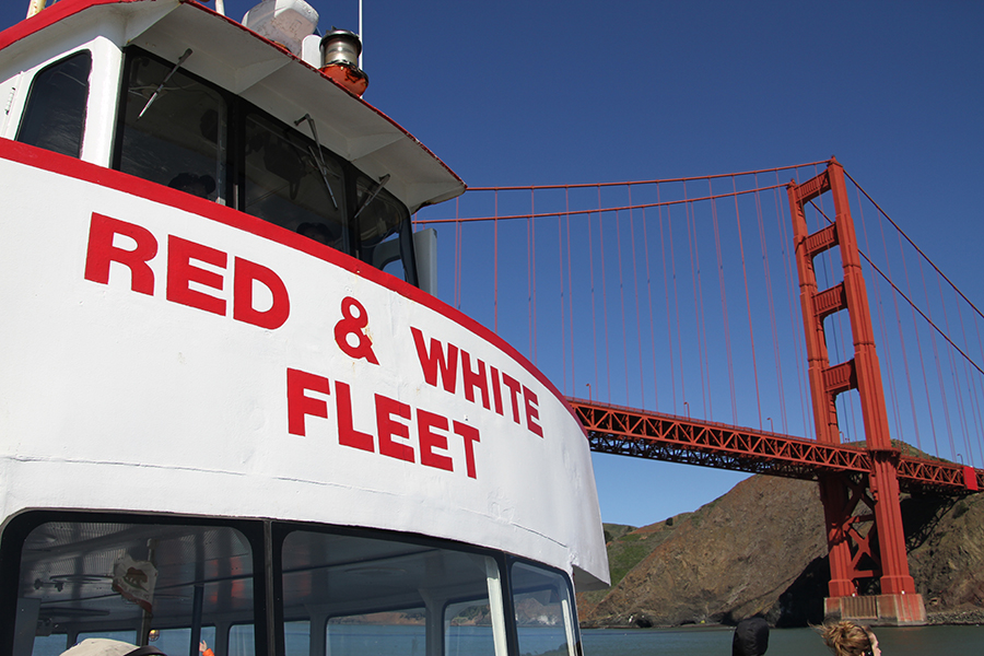 Sandia and San Francisco's Red and White Fleet are partnering to develop a high-speed, hydrogen-fuel-cell-powered passenger ferry and refueling station. Hydrogen fuel cells have higher energy efficiency than the diesel fuel cells that power most passenger ferries, no harmful exhaust emissions, quiet operation, and no risk of fuel spills. (Photo courtesy of Red and White Fleet)