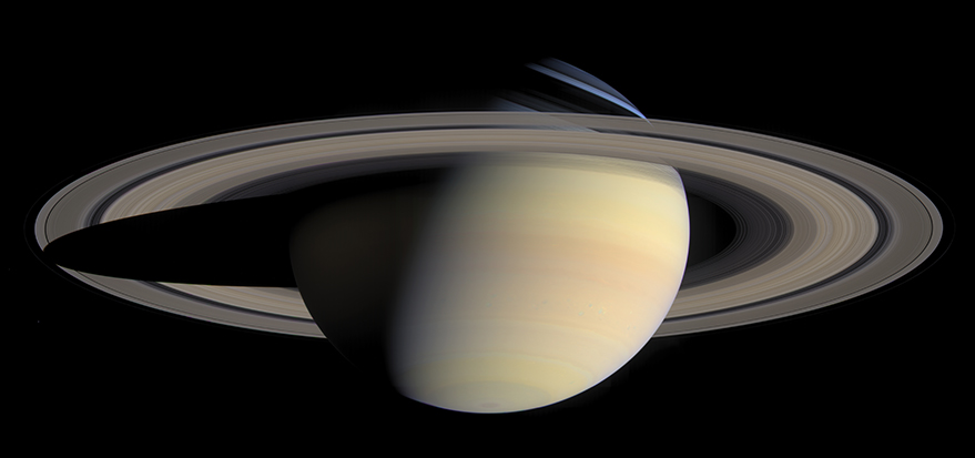 Results from Sandia's Z Machine provides hard data for an 85-year-old theory that could correct mistaken estimates of the planet Saturn's age. (Image courtesy of NASA/JPL/Space Science Institute)