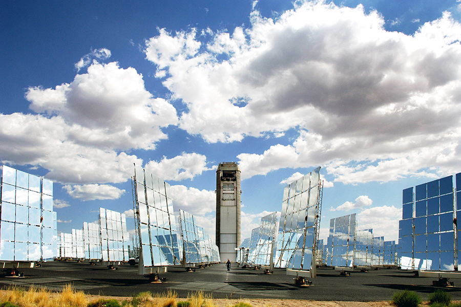 The National Solar Thermal Test Facility at Sandia could be used for collaborative research through the Small Business Voucher Pilot. (Photo by Randy Montoya)