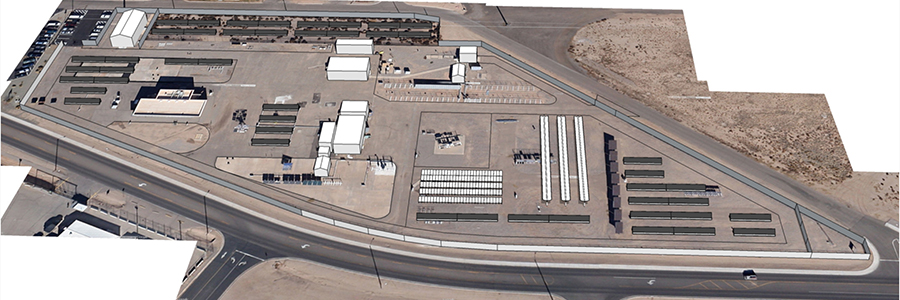 An artist's rendition of the Sandia RTC site, co-located with our Photovoltaic Systems Evaluation Lab (PSEL).