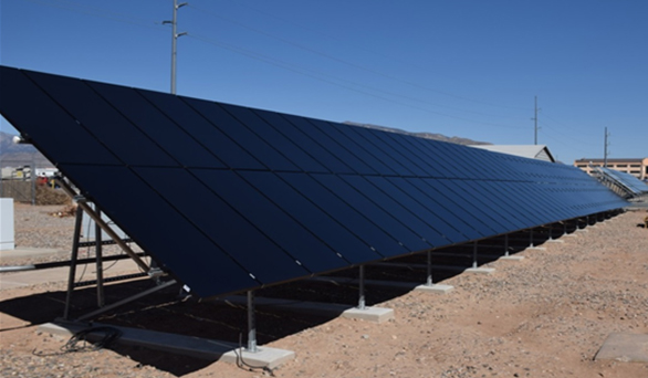 Stion PV system installed and the Sandia RTC site.
