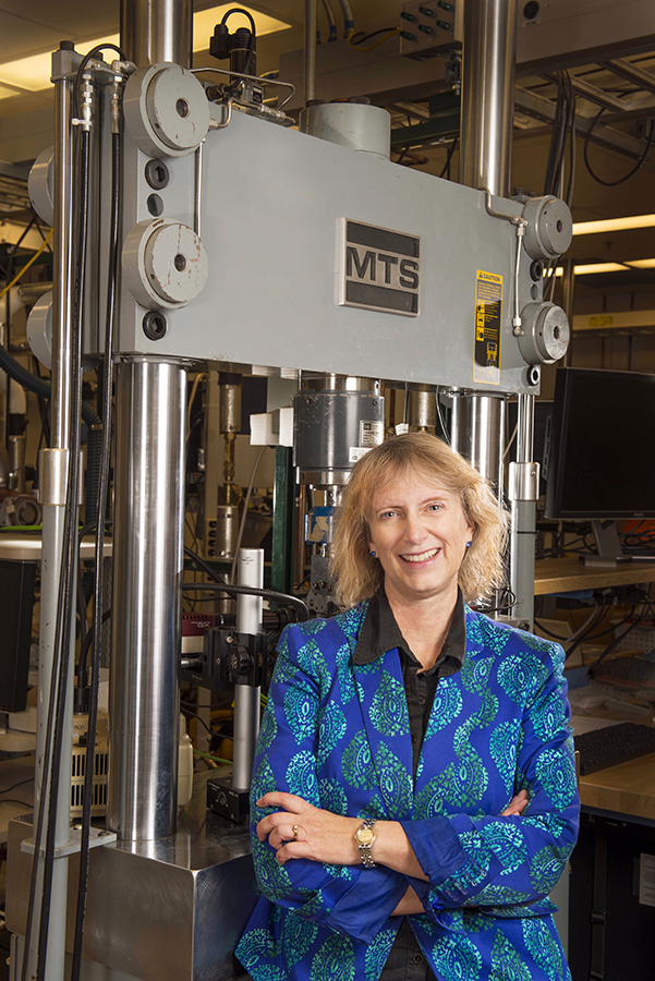 Sandia's Carol Adkins was named a distinguished alumna by the University of New Mexico's School of Engineering. (Photo by Randy Montoya)