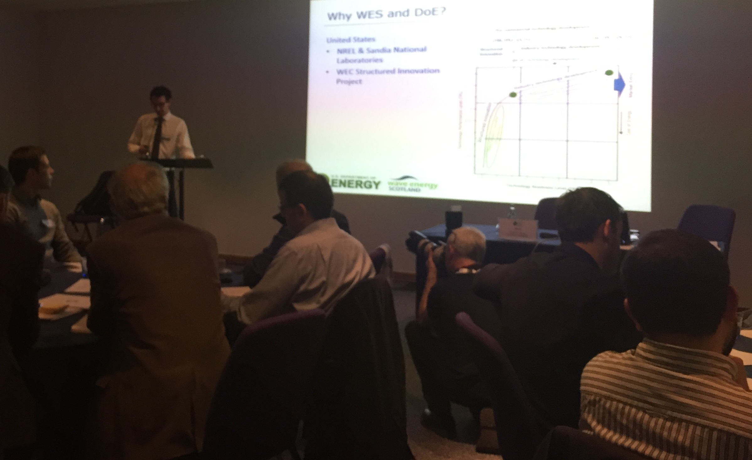 Industry outreach: DOE and Wave Energy Scotland co-sponsored WEC technology workshop