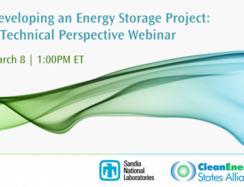 Webinar: Developing an Energy Storage Project – A Technical Perspective