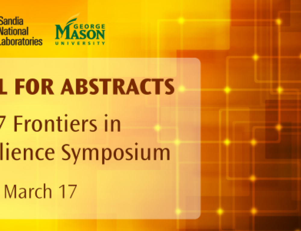 Call for Abstracts is Open for the 2017 Frontiers in Resilience Symposium