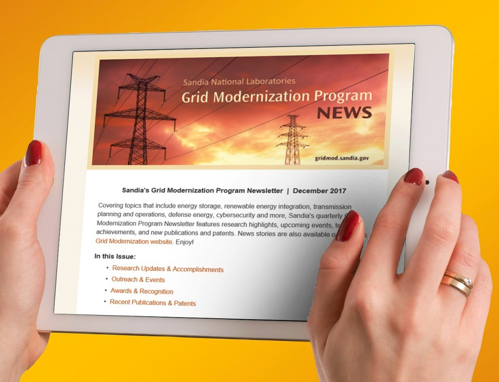 New Issue of Sandia's Grid Modernization Program Newsletter Now Available