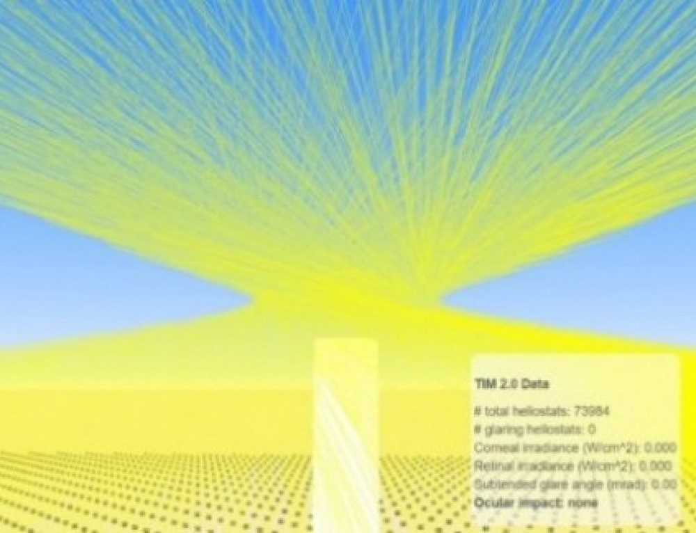 Tower Illuminance Model Investigates Glare and Avian-Flux Hazards at CSP Towers