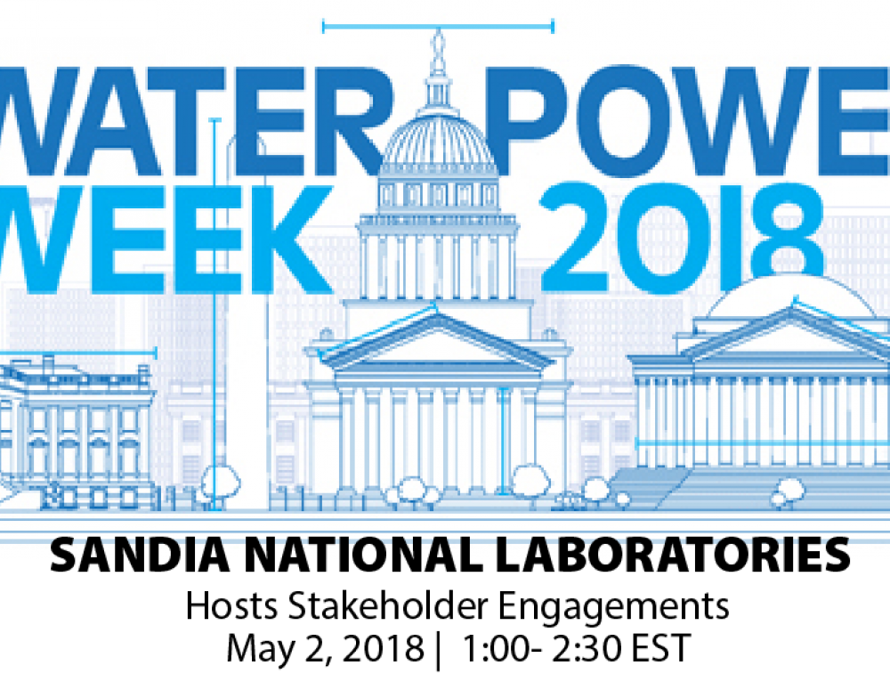 Water Power Week April 30-May 2nd, 2018