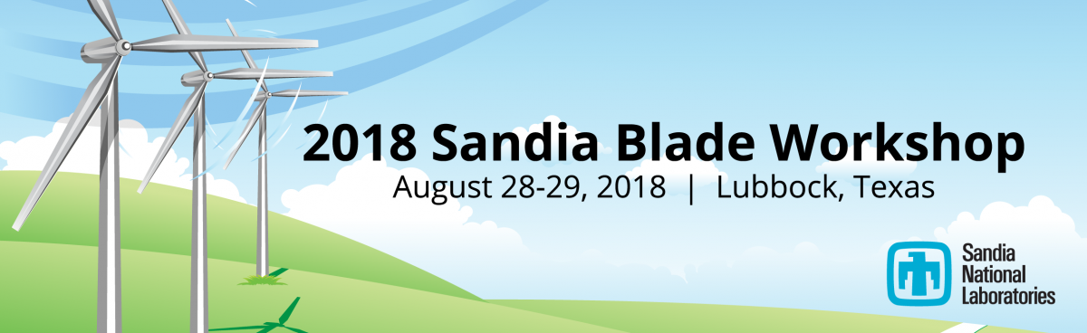 Register today for the 2018 Sandia Blade Workshop, August 28-29, 2018.