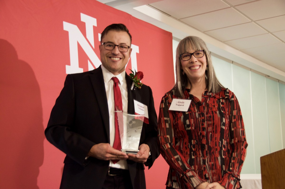 Kenneth Armijo receives UNM Zia Award