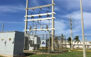 Example of a substation to be used in a Puerto Rico microgrid. (Photos by Robert Broderick)