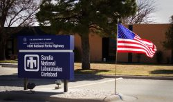 Photo of Sandia National Laboratories Carlsbad site entry sign.