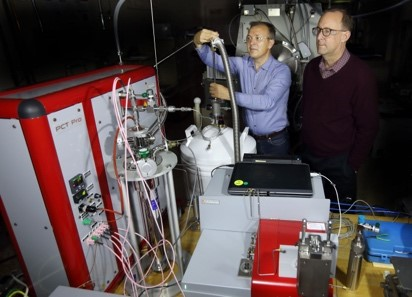 Sandia researchers are part of a multilab consortium to advance storage materials for hydrogen powered transportation.