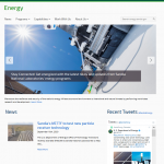 Refreshed energy.sandia.gov homepage showing a news and twitter feed.