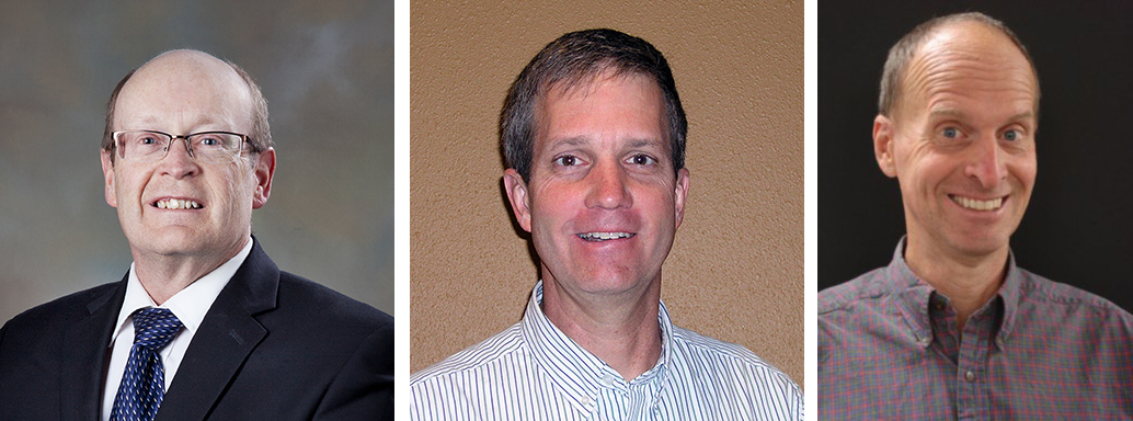 Sandia Energy & Climate PMU-affiliated researchers Charles Barbour (left), Steve Plimpton (center), and Kevin McCarty (right, retired) were recently named Fellows of the American Physical Society.