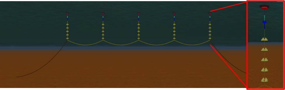 Figure 1.  Atmocean's OHS™ with five pumping modules, with one pumping module expanded.
