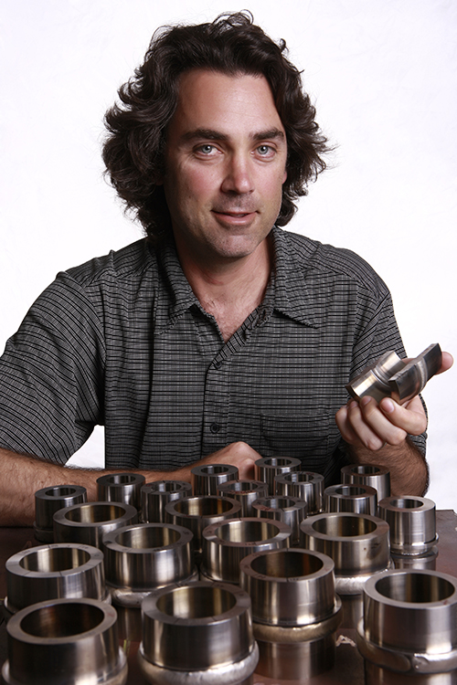 Sandia researcher Chris San Marchi displays components the team has studied for compatibility with hydrogen. Gaseous hydrogen has the unique characteristic that it liberates atomic hydrogen when in contact with surfaces. The released atomic hydrogen dissolves into materials and can alter their structural properties, a process often referred to as hydrogen embrittlement.