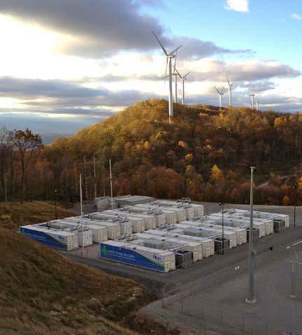 AES Storage LLC's Laurel Mountain Energy Storage. (Supplies 32 MW of regulation using Li-ion batteries.)