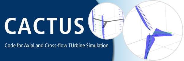 CACTUS: Code for Axial and Cross-flow TUrbine Simulation