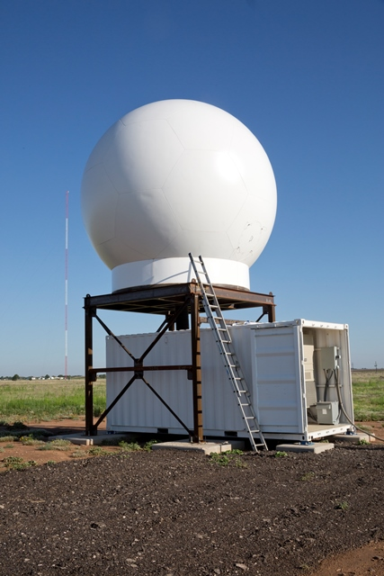 Wind turbines can potentially interfere with radar systems like the one pictured here